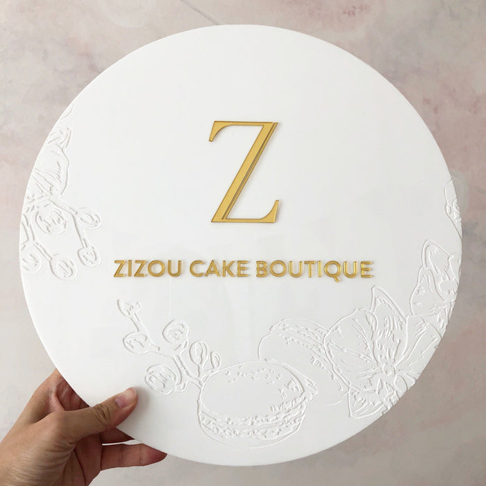 Engraved Pop-up Signage -Round