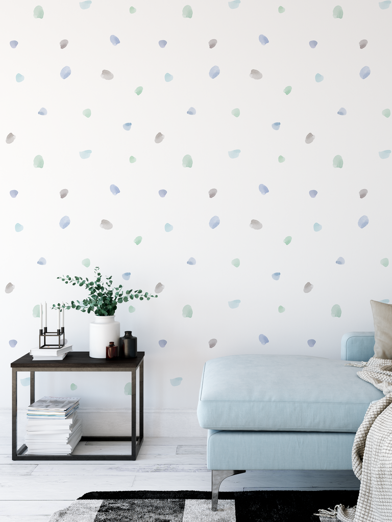 Irregular Blobs Fabric Decal - Urban Li'l