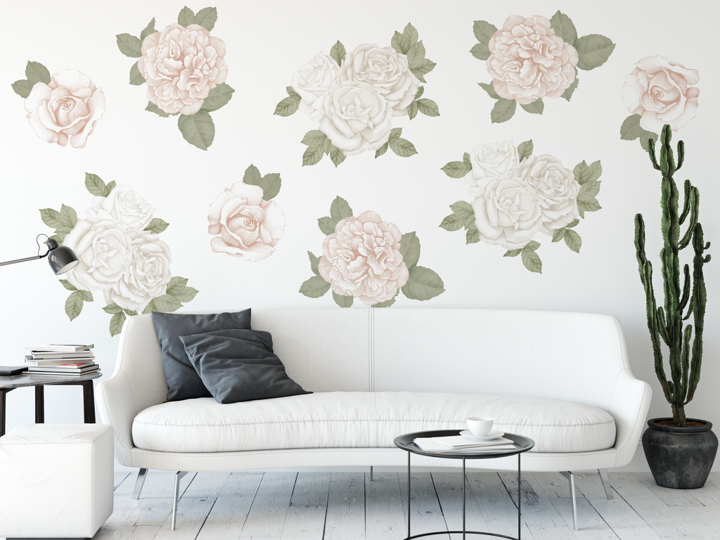 Jumbo Floral Fabric Decal