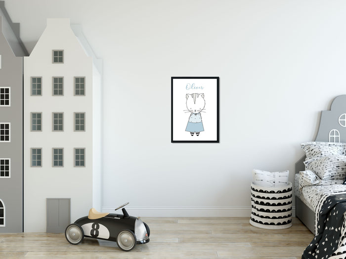 Kitty Nursery Print