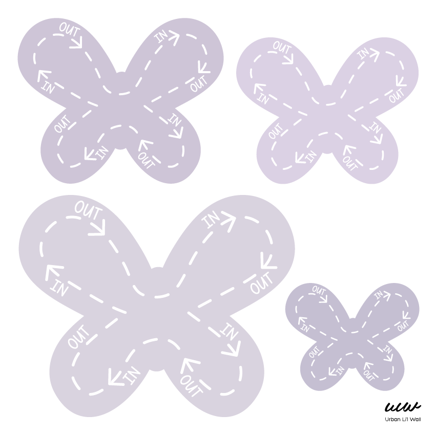 Butterfly Breathing Fabric Decal by Our Little Playnest x Urban Li'l