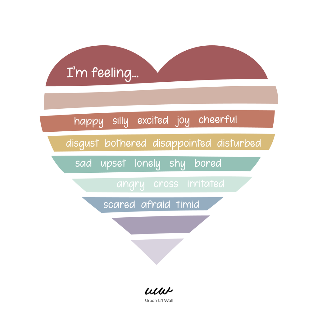 Rainbow Heart Feelings Fabric Decal by Our Little Playnest x Urban Li'l