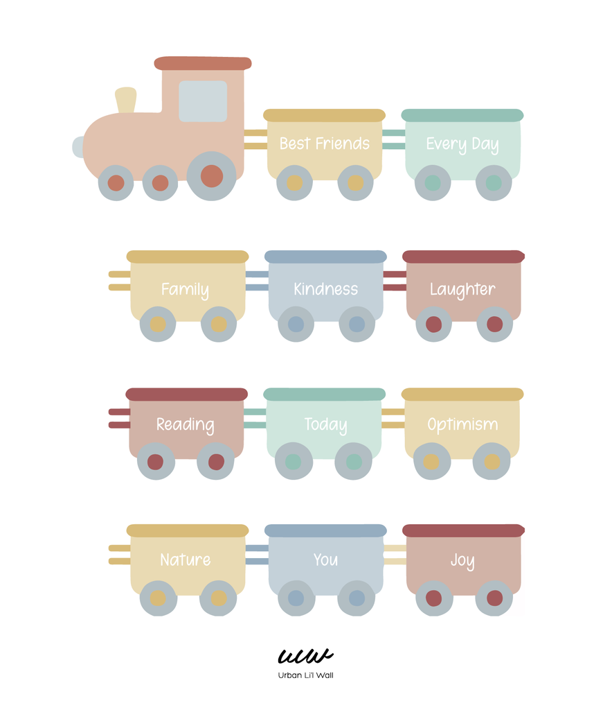 The Gratitude Train Fabric Decal by Our Little Playnest x Urban Li'l