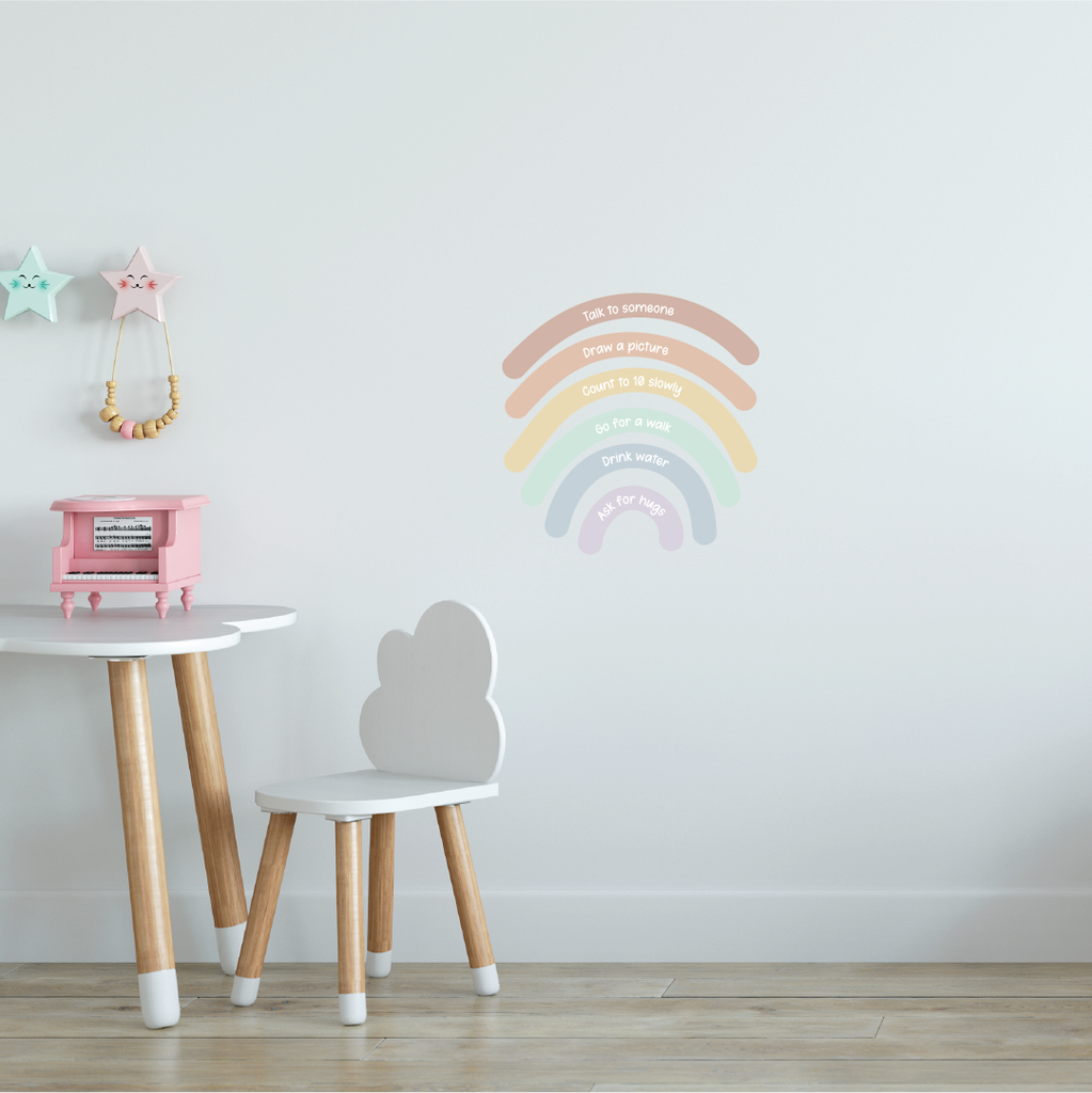 Calming Rainbow Fabric Decal by Our Little Playnest x Urban Li'l