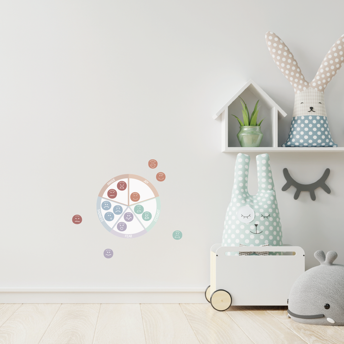 Feelings Wheel Fabric Decal by Our Little Playnest x Urban Li'l