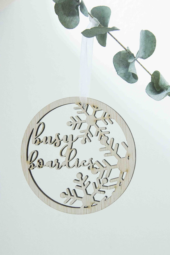 Personalised Christmas Snowflakes Round Ornament