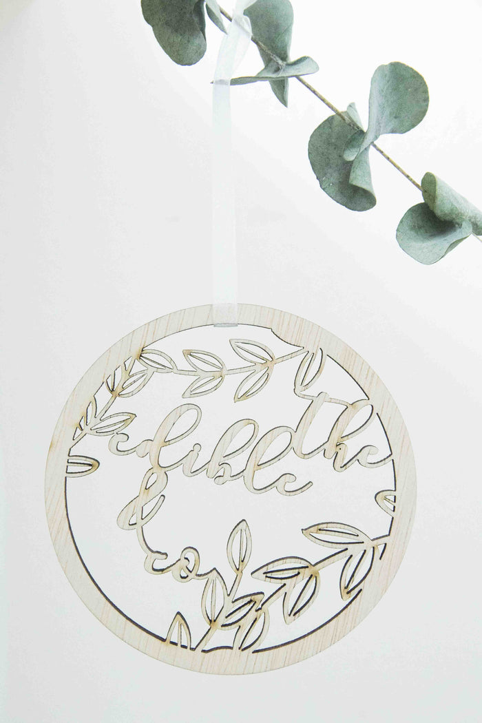 Personalised Christmas Botanic Tree Ornament