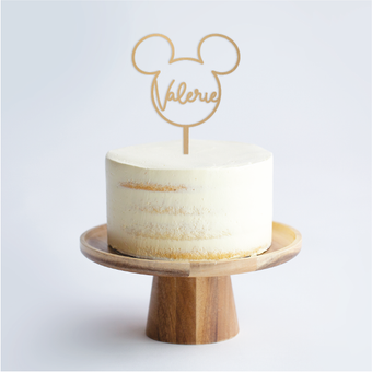 Mickey Motif Outline Cake Topper