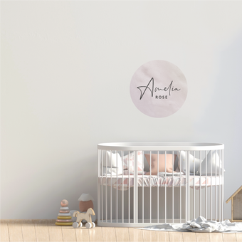 Watercolour Name Rounds Fabric Decal