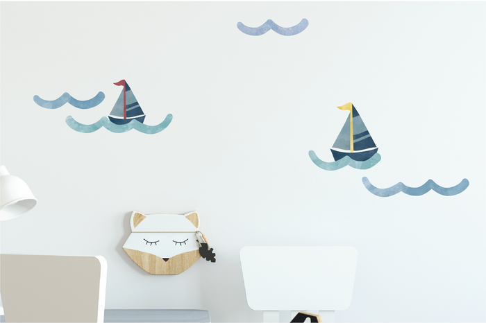 Nautical Wave Fabric Decal - Urban Li'l
