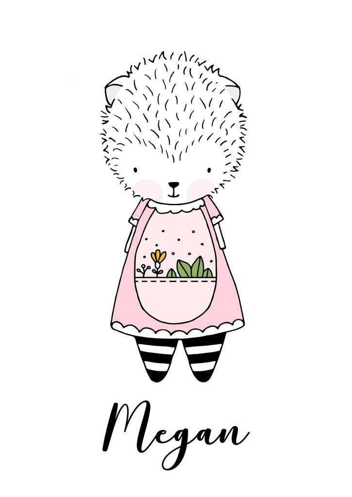 Hedgehog Nursery Poster - Urban Li'l
