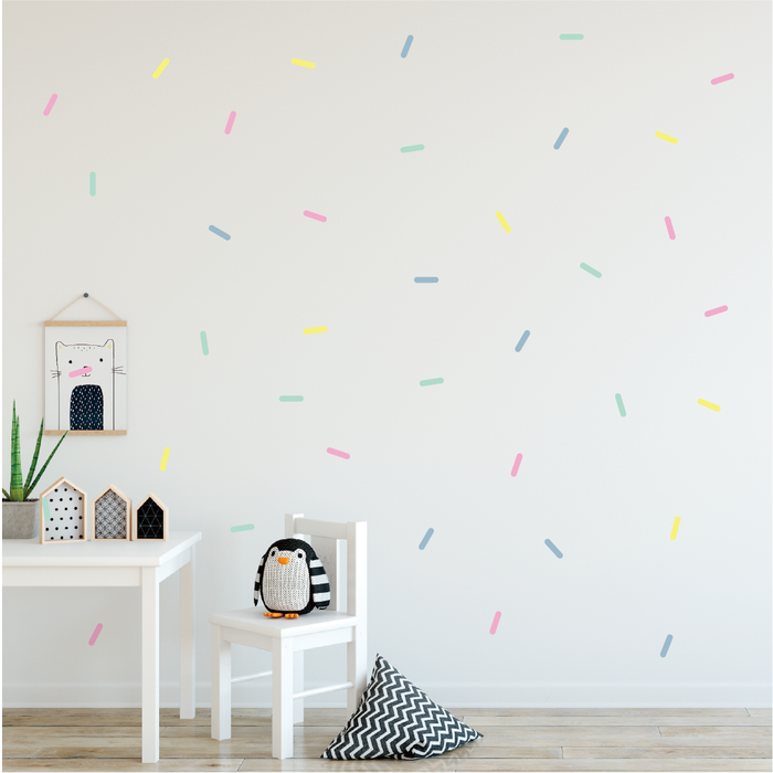 Pastel Sprinkles Fabric Decal - Urban Li'l