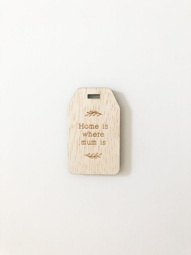 Wooden Engraved Gift Tag