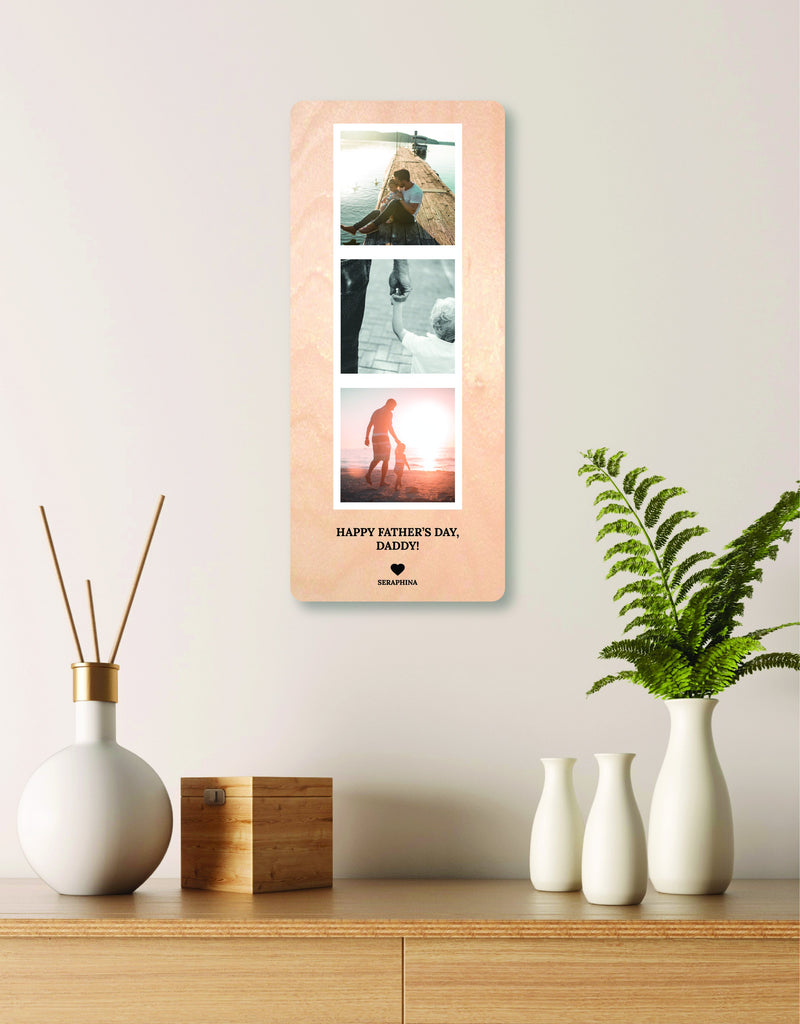 Wooden Engraved Photo Strip