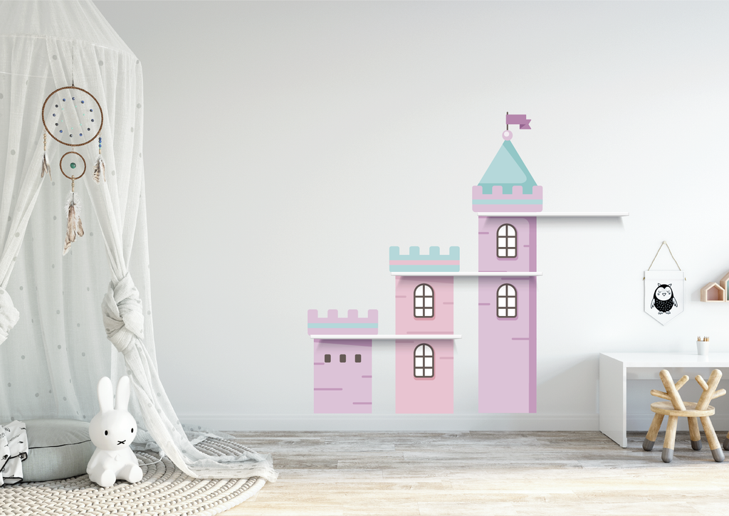 Castle Stack Playroom Fabric Decal by Styledbypt x Urban Li'l