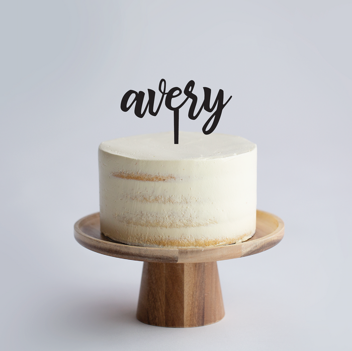 Custom Name Cake Topper