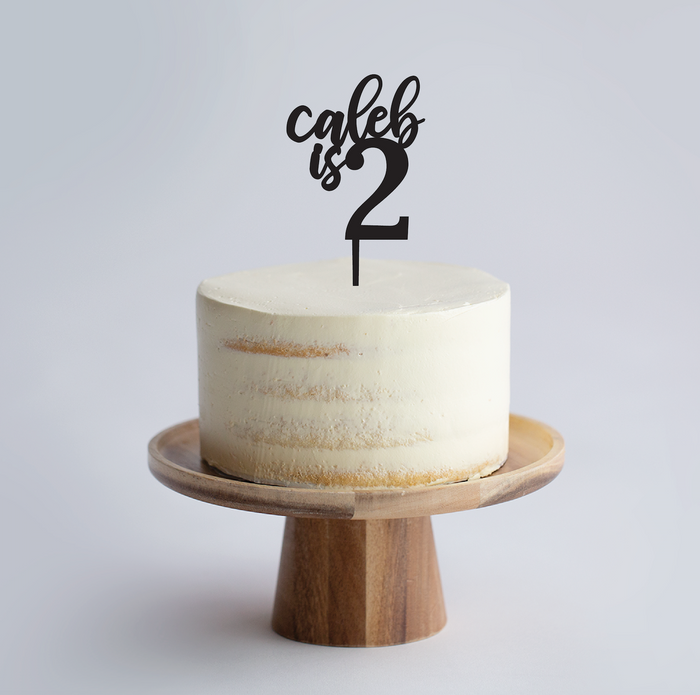 Custom Name & Numeral Age Cake Topper