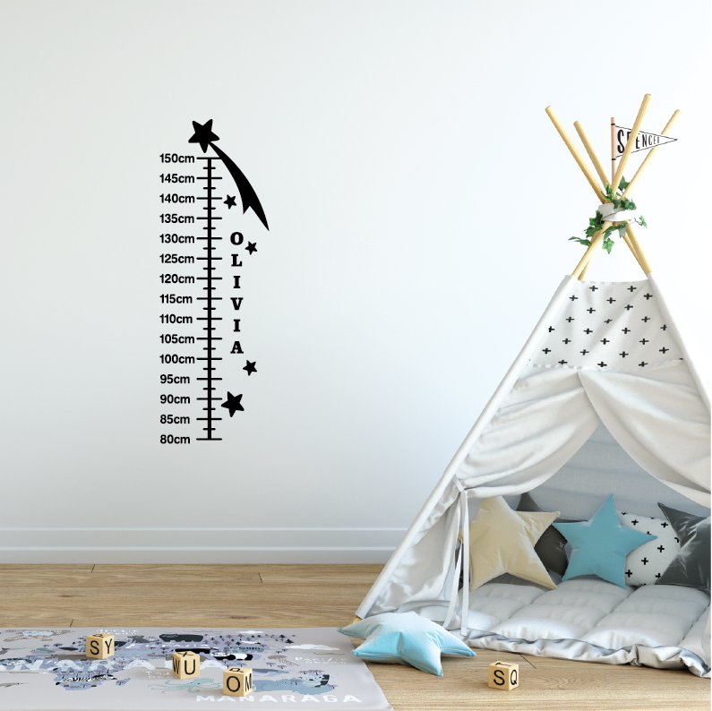 Shooting Star Height Chart Wall Decal