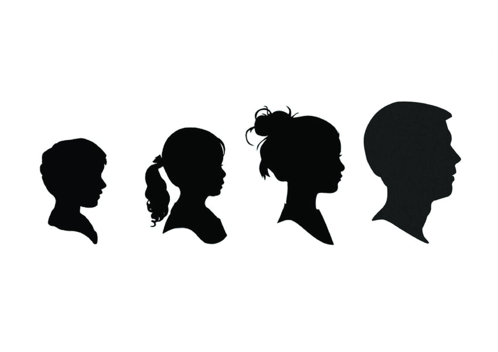 Silhouette Family Poster