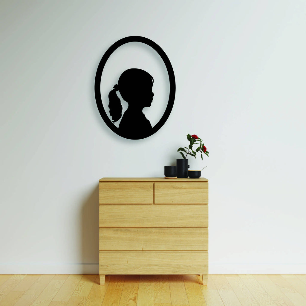 Silhouette Oval Plaque