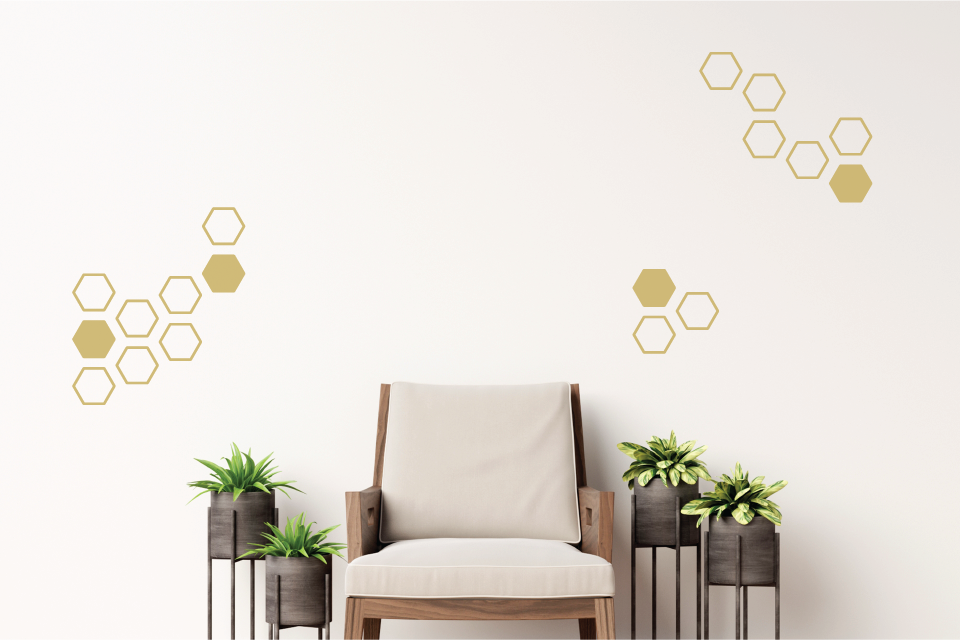 Hexagon Wall Decal - Urban Li'l