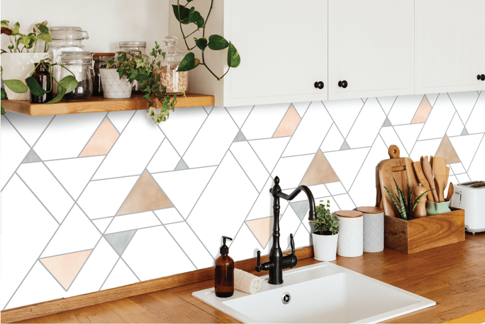 Lines & Triangles Kitchen Backsplash by Styledbypt x Urban Li'l