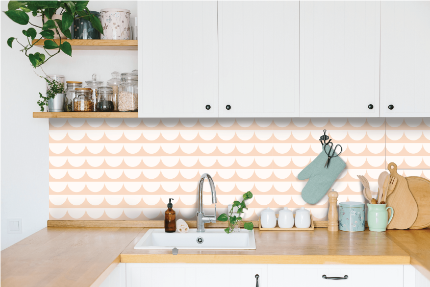 Scallop Waves Kitchen Backsplash by Styledbypt x Urban Li'l