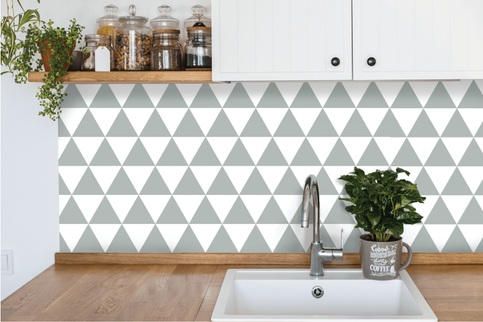 Triangles Kitchen Backsplash by Styledbypt x Urban Li'l