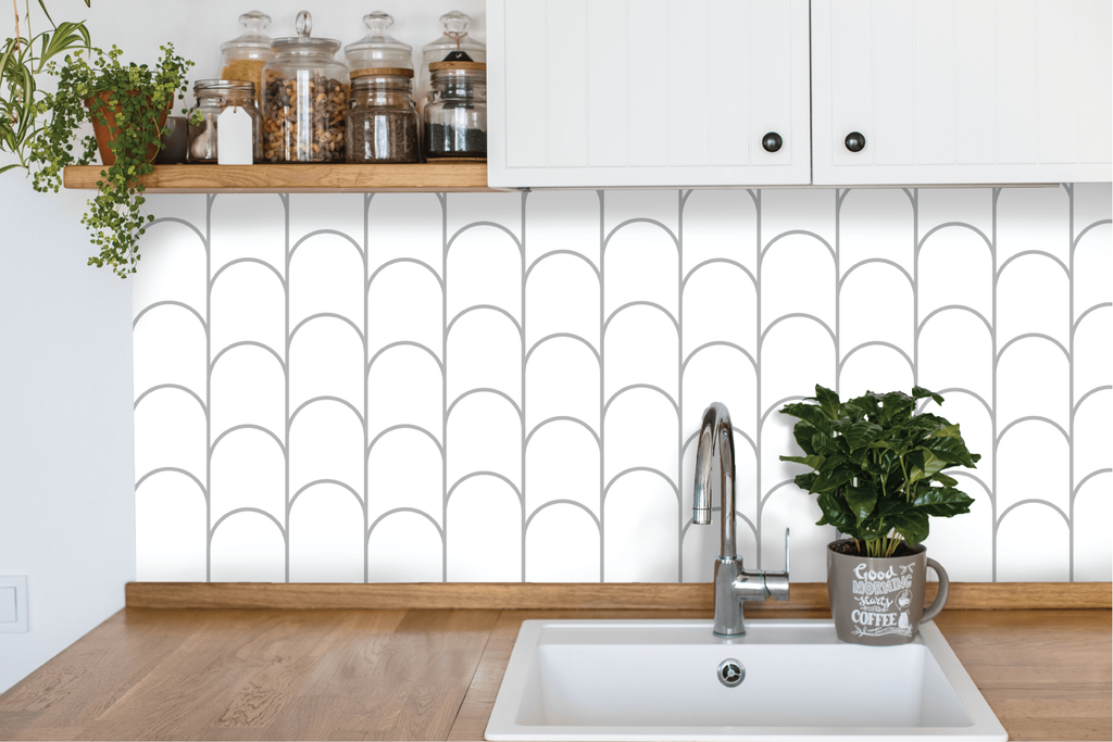 Scallop Fingers Kitchen Backsplash by Styledbypt x Urban Li'l