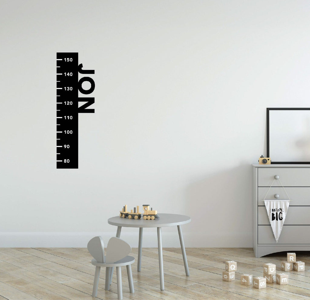 Name Ruler Height Chart Fabric Decal