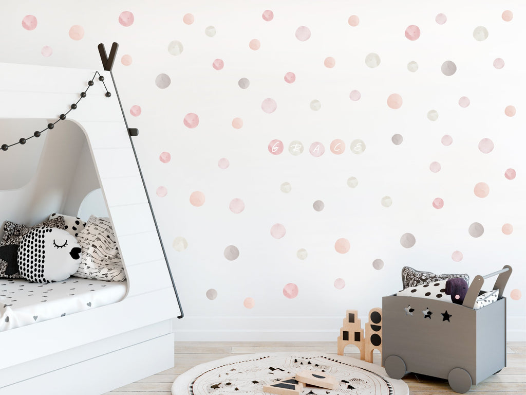 Watercolour Dots Fabric Decal