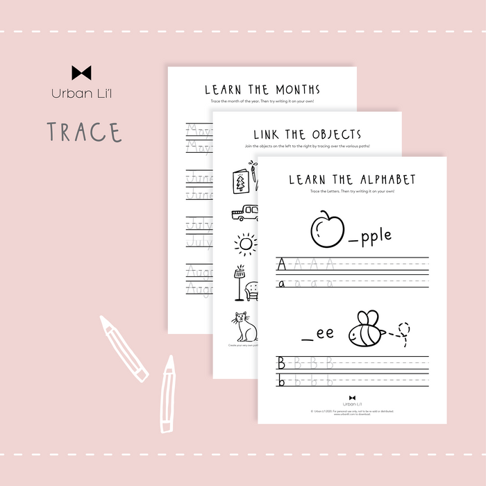 Tracing Printable - Urban Li'l