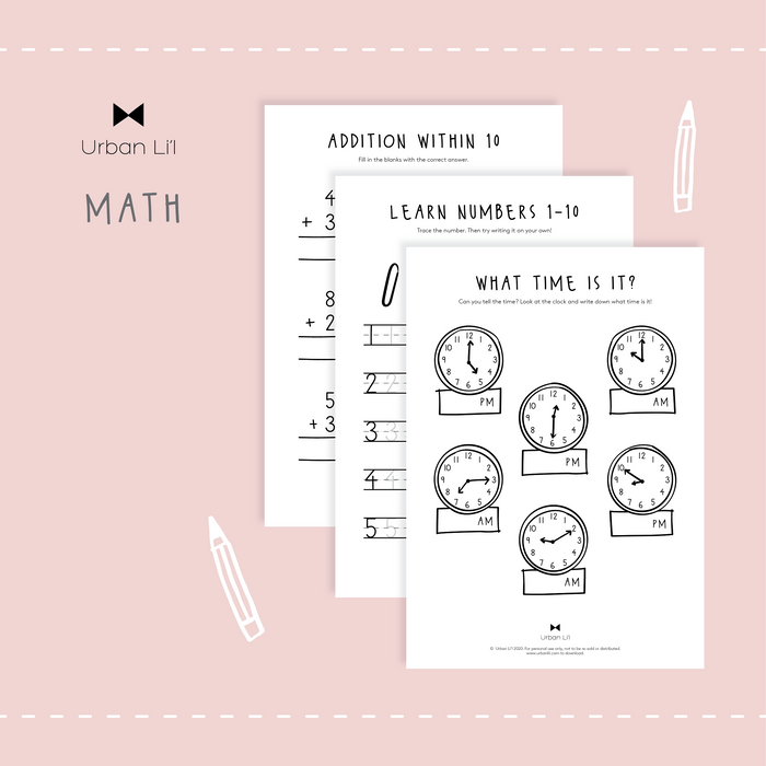 Mathematics & Numeral Printable - Urban Li'l