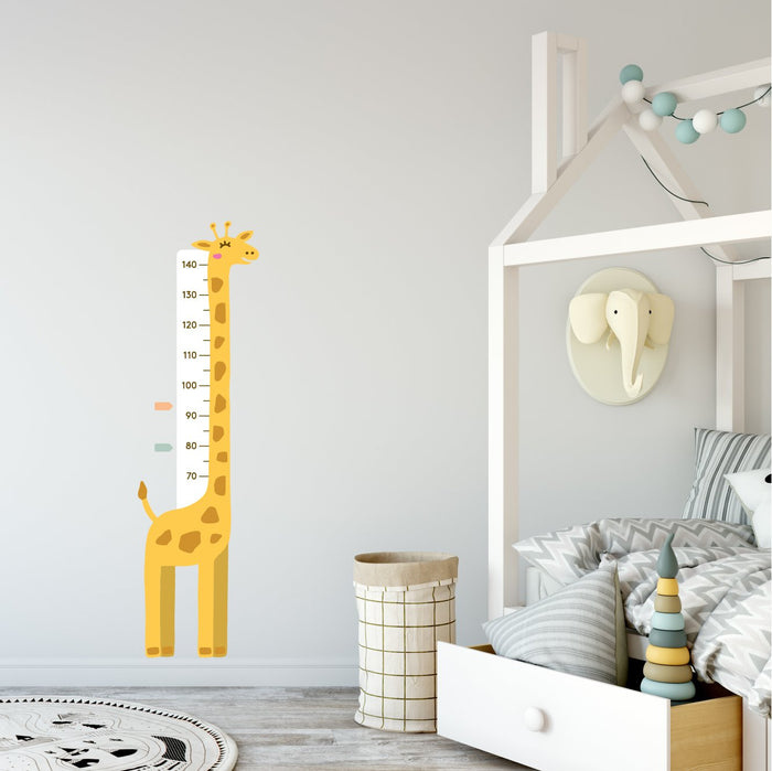 Giraffe Height Chart Fabric Decal