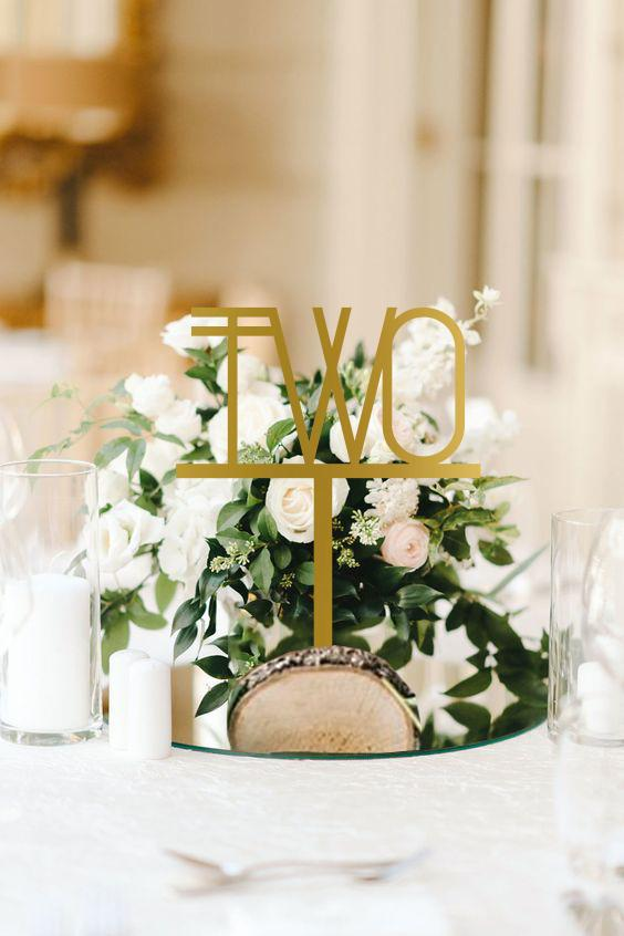 Liners Wedding Table Number Signage