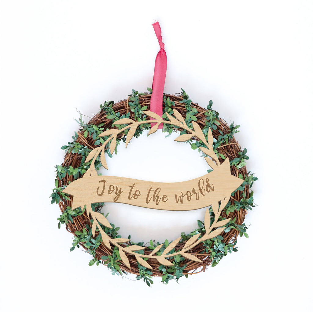 Christmas Plaque -Banner Garland Border