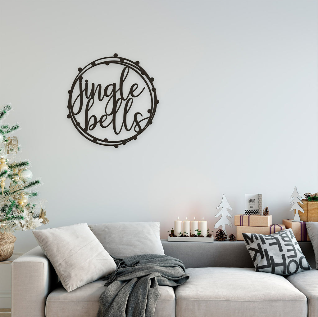 Christmas Plaque -Bauble Dots Border