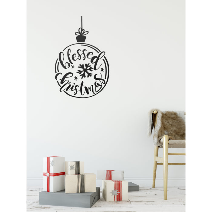 Blessed Christmas Wall Decal