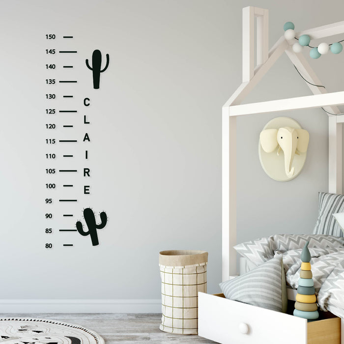 Cactus Height Chart Wall Decal