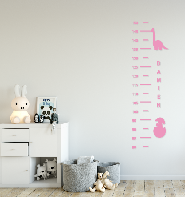 Dinosaur Height Chart Wall Decal - Urban Li'l