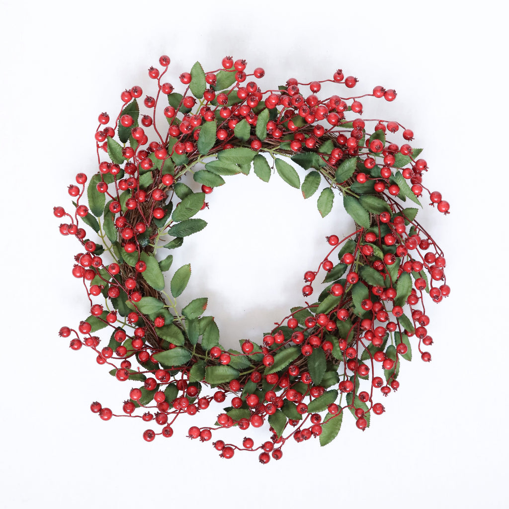 Fancy Christmas Wreath -Berries Evergreen - Urban Li'l