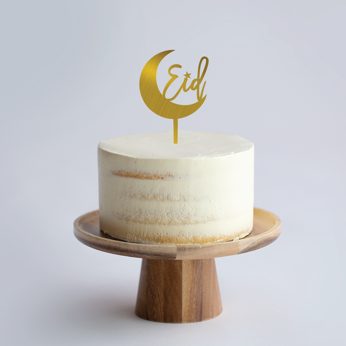 Custom Crescent Cake Topper