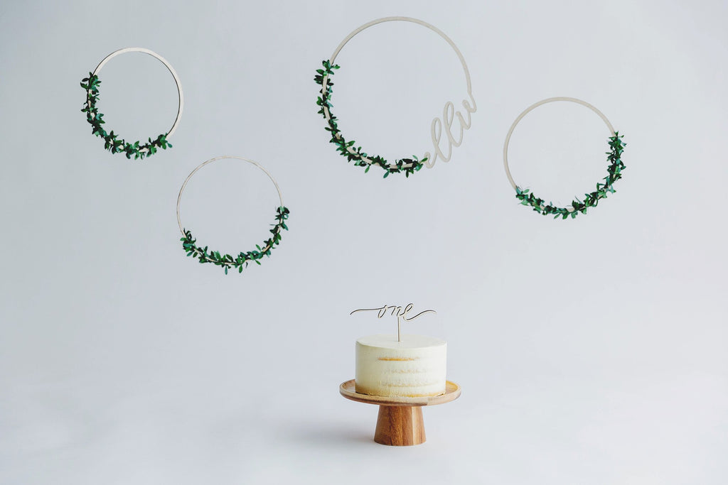 Calligraphy Hoop Wreath Set