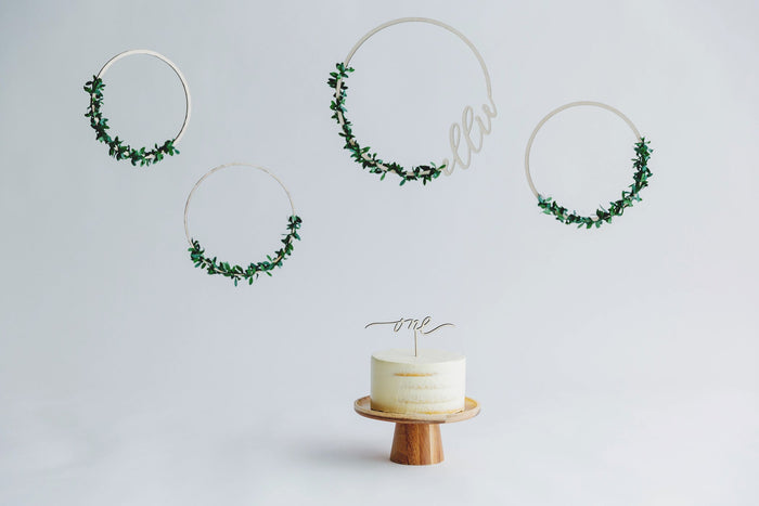 Calligraphy Hoop Wreath Set - Urban Li'l