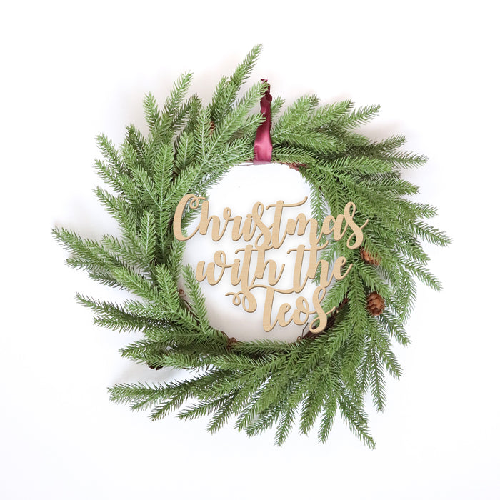 Fancy Christmas Wreath -Acorn Evergreen