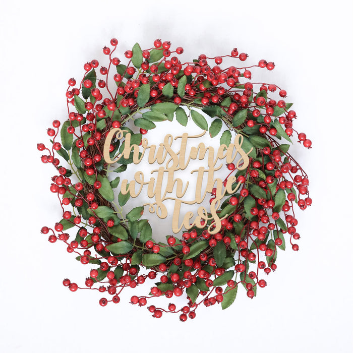 Fancy Christmas Wreath -Berries Evergreen