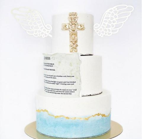Unicorn Wings Board Cake Topper