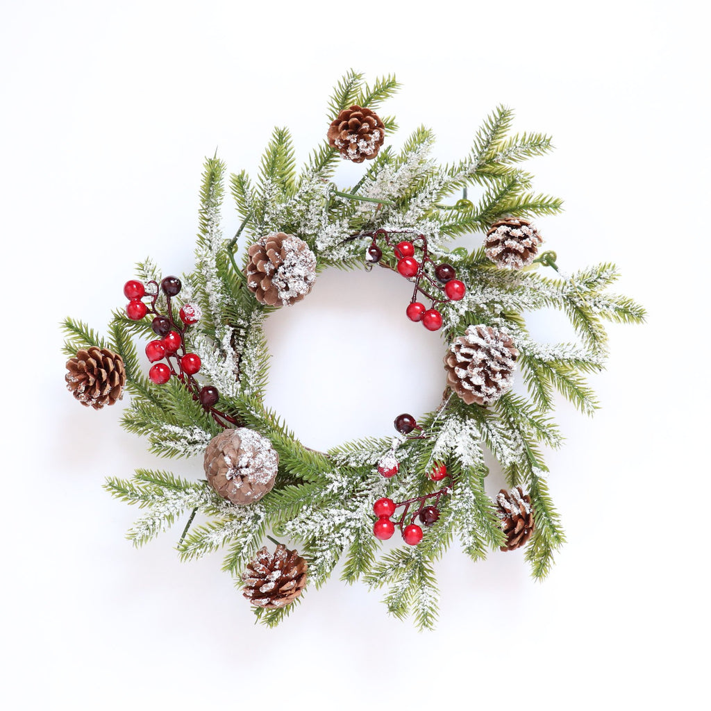 Fancy Christmas Wreath -Frosty Acorn Berries - Urban Li'l