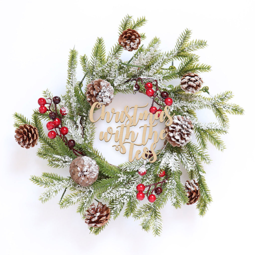 Fancy Christmas Wreath -Frosty Acorn Berries