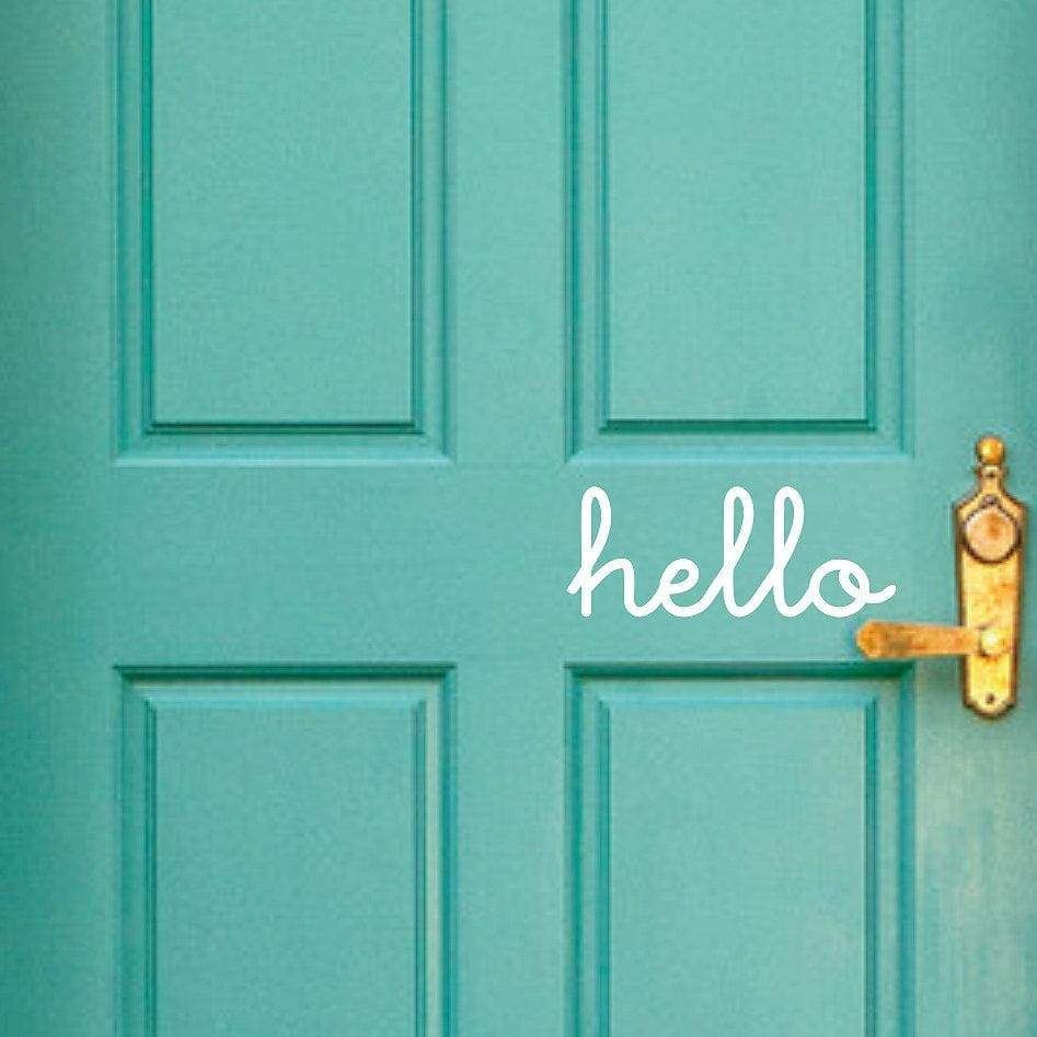 'Hello' Door Decal